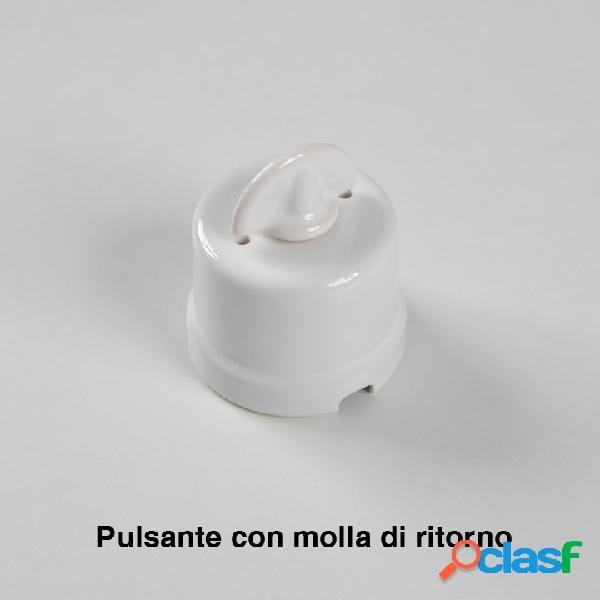 Pulsante rotativo serie vintage in porcellana con molla di ritorno