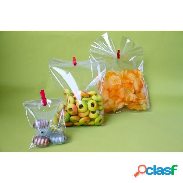 Sacchetti cellophane 15 x 25 cm per alimenti 100 pz bustine confetti dolci
