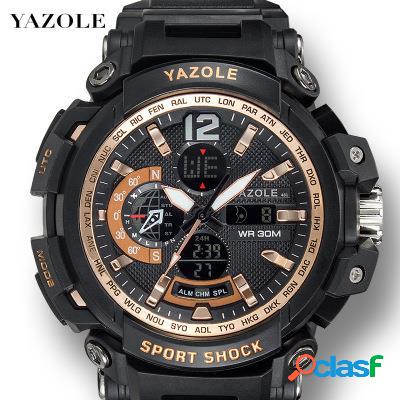 Orologio da uomo sportivo multifunzione luminoso orologio da polso elettronico digitale impermeabile
