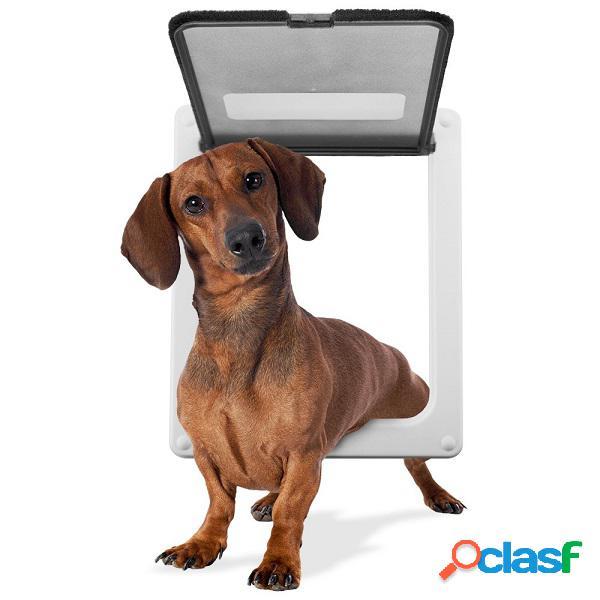 Porta per animali domestici porta ad accesso libero foro per porte foro per porte per animali domestici grande medio piccolo marrone bianco forniture per animali domestici