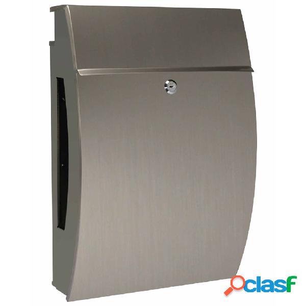 Perel cassetta della posta nyc acciaio inossidabile argento bg11003