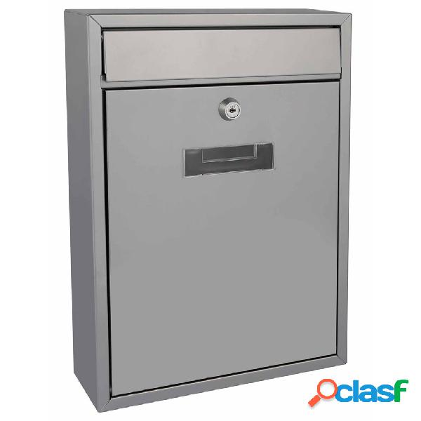 Perel cassetta della posta ibiza argento bg40003