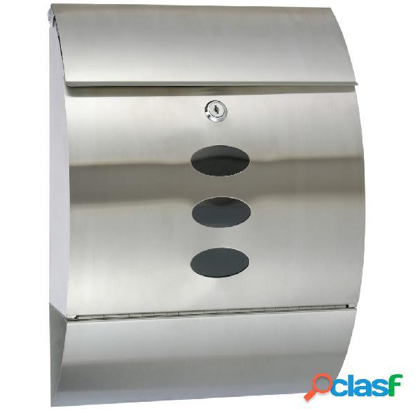 Hi cassetta della posta acciaio inossidabile 30x12x40 cm