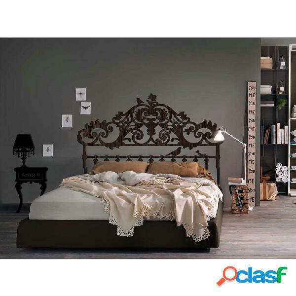 Sticker in 3d testiera letto matrimoniale il mondo dei sogni in legno 160xh100 cm colore wengè