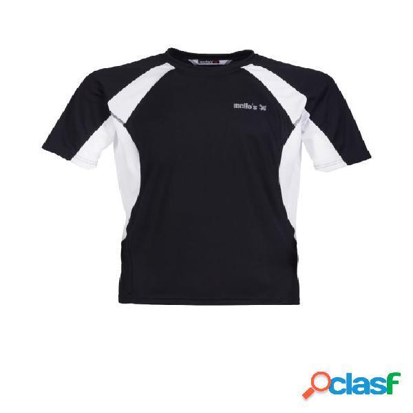 Maglietta manica corta adamello - nero-bianco,xl