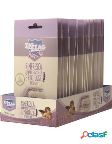 Zig zag salva abiti 14 foglietti protettivi canfora e lavanda x cassetti e armadi protegge rinfresca e profuma