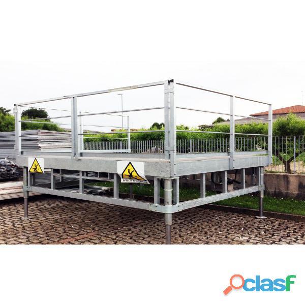 Piattaforma a banchina carico/scarico merci 2,7x2,4m