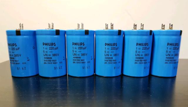 Philips 220uf 385 volts condensatori elettrolitici