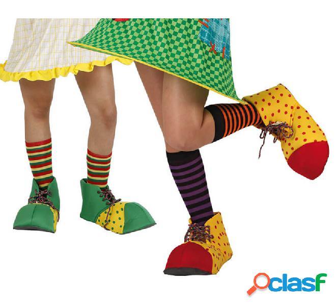 Scarpe da clown da uomo 35 cm 2 mod. surt