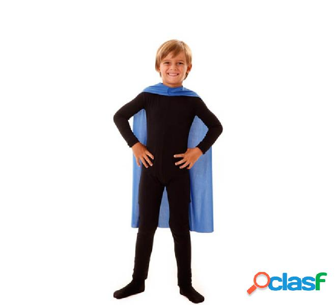 Capo da supereroe da bambino blu da 70 cm