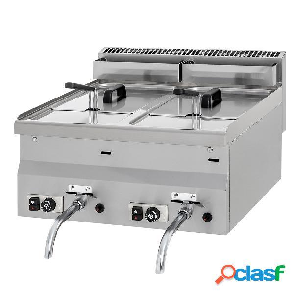 Friggitrice da banco con alimentazione a gas - 2 vasche - capacità 8 lt + 8 lt - 13600 w