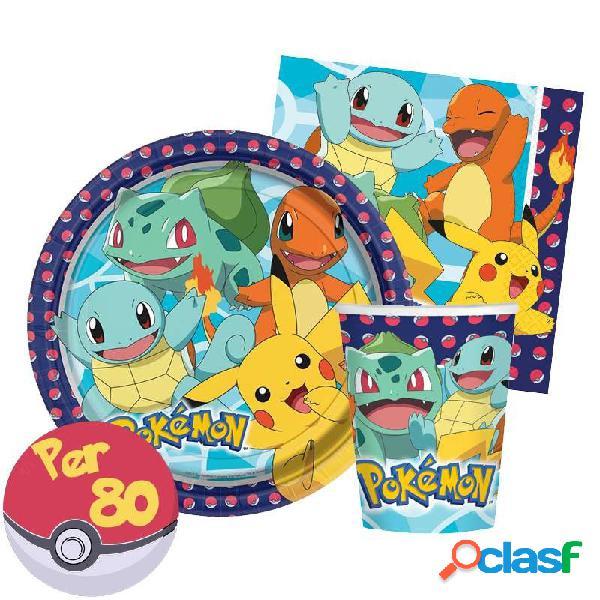 Kit n.29 pokémon - addobbi per 80 bambini