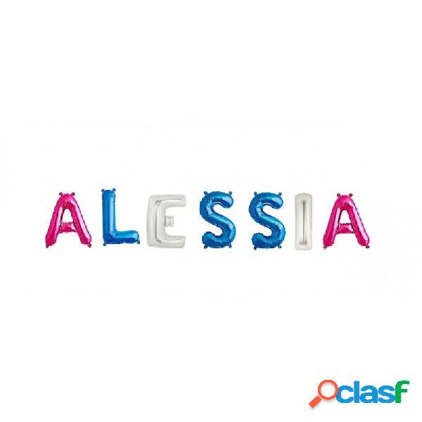 7 palloncini lettere alfabeto foil