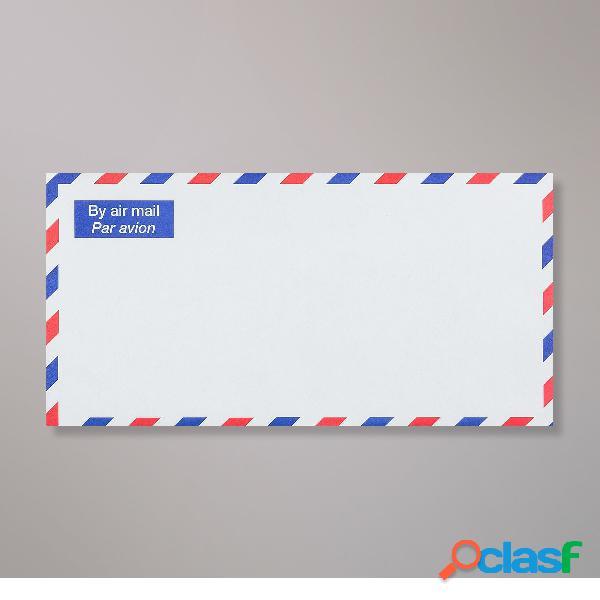 110x220 mm (dl) busta bianca per invio con posta aerea
