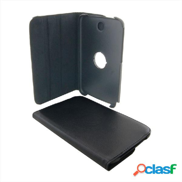 Custodia a libro color nero con stand rotante a 360° e chiusura con elastico per samsung galaxy note (8.0) n5100