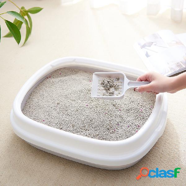 Lettiera per animali domestici scatola toilette per gatti antispruzzo rimovibile semichiusa per inviare pala di sabbia per gatti
