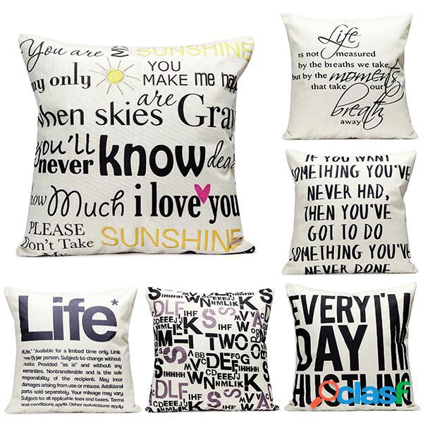 Lettera inglese cuscino cotone cuscino cuscino home divano divano letto auto decorazione cuscino