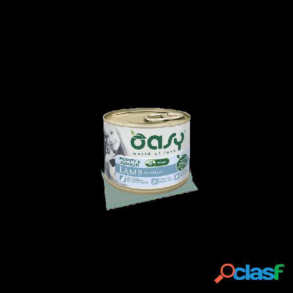 Oasy - oasy one protein puppy mini cibo umido per cani agnello 6 lattine da 200 gr