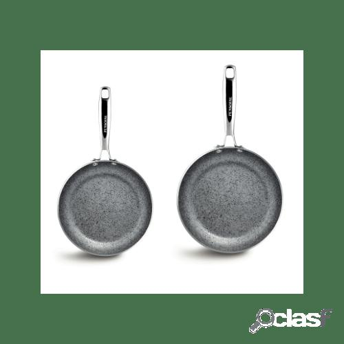 Pensofal - bis di padelle alte in alluminio antiaderente linea invictum, diam. 20 e 24 cm