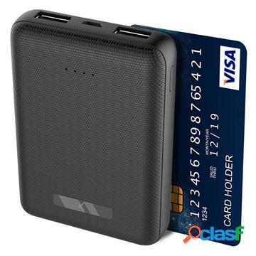 Power bank ksix mini 10000mah - 2xusb - nero