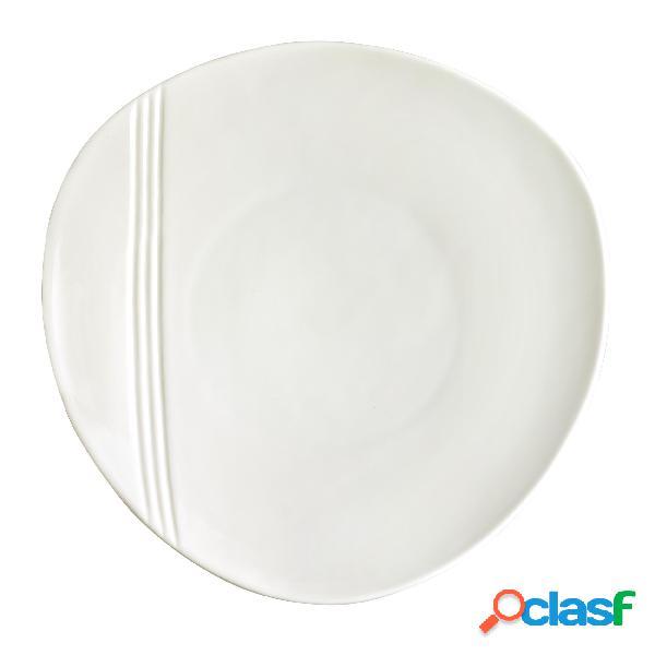 Piatto piano in porcellana alluminica al 30 % miami 31 cm lavabile in lavastoviglie, ideale per la ristorazione anti sbeccatura