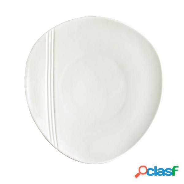 Piatto piano in porcellana alluminica al 30 % miami 20,5 cm lavabile in lavastoviglie, ideale per la ristorazione anti sbeccatura