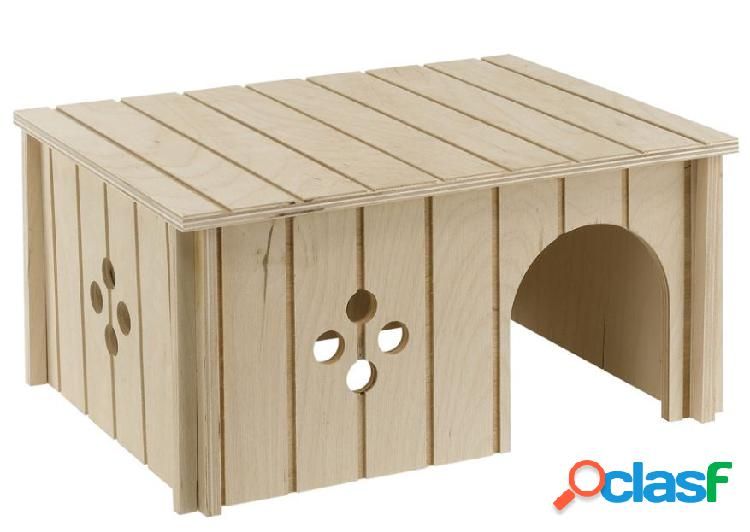 Ferplast casetta per conigli in legno ecosostenibile tree friend -...