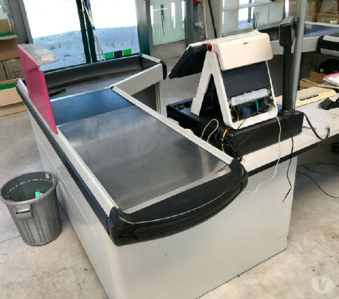 Banco cassa sidac metal system ottime condizioni