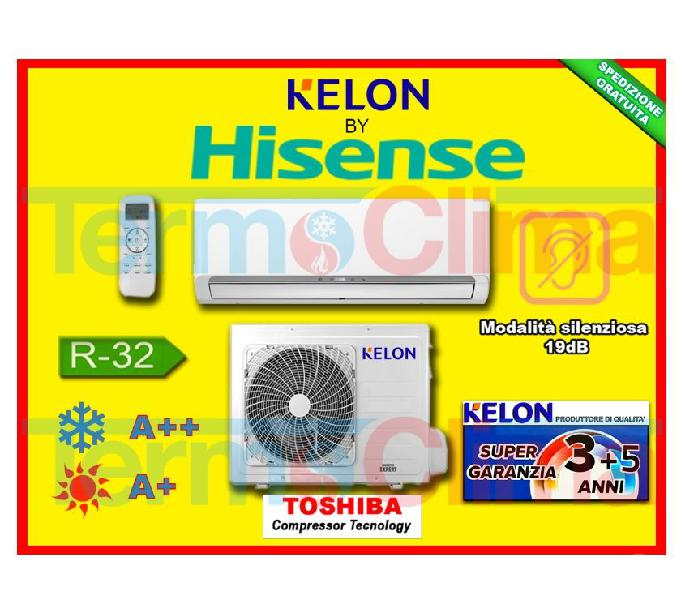 Climatizzatore monosplit kelon by hisense 12000 btu inverter