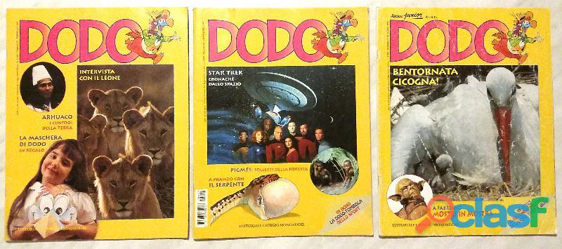 Stock 3 numeri rivista dodo: n.79/88 del 1997, n.72 giugno 1996 come nuovo