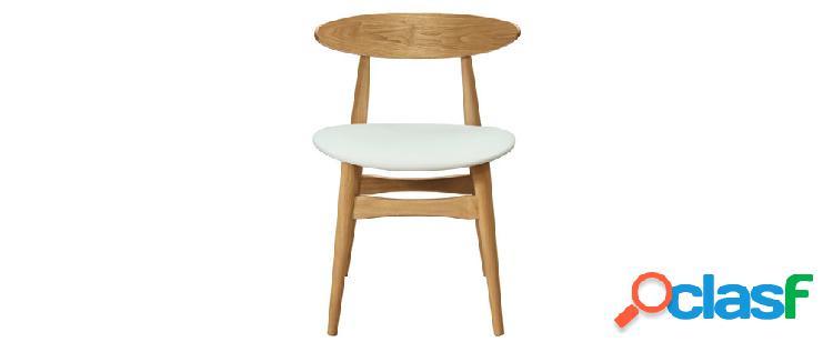 Gruppo di 2 sedie in legno chiaro e bianco walford