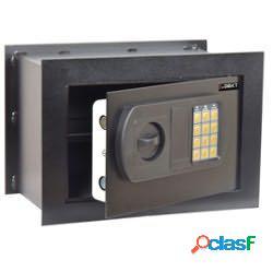 Cassaforte da muro - serratura elettronica - 33x20x23 cm - 9 kg - nero - iternet (unit vendita 1 pz.)