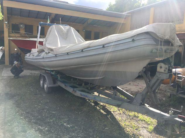 Carrello gommone barca