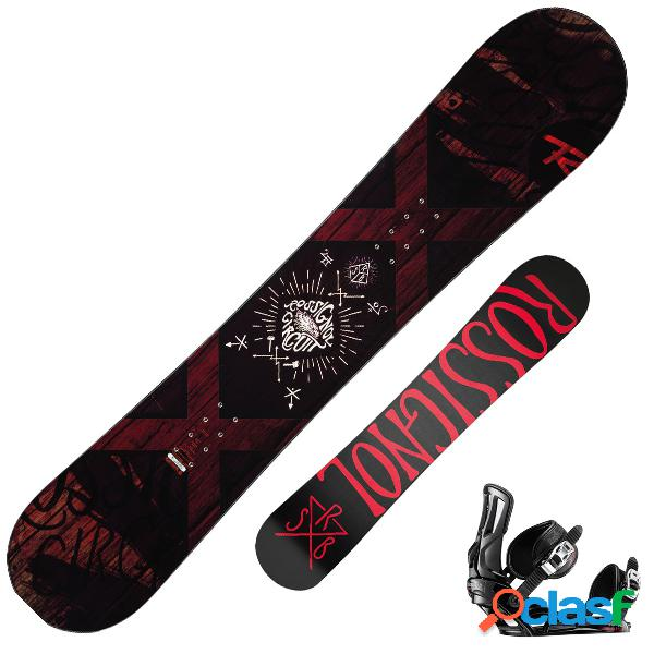Snowboard rossignol circuit + attacchi battle (colore: nero-rosso, taglia: 155)