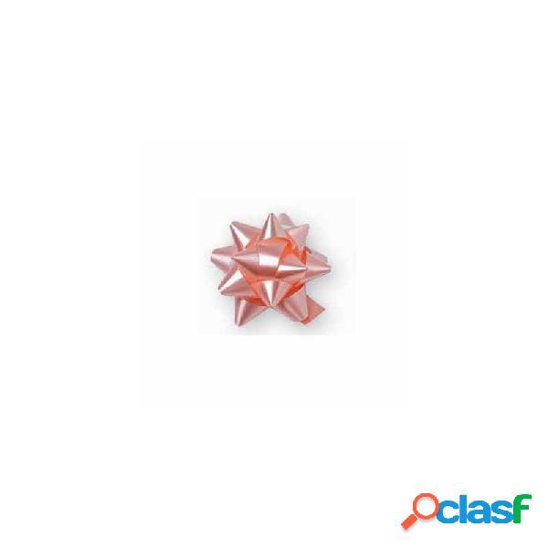 30 x coccarda classica stella rosa adesiva 28488 4 cm