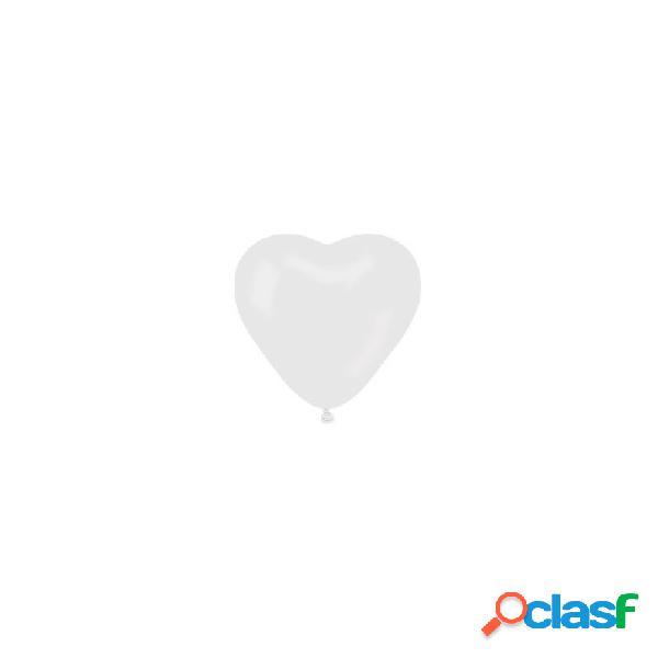 100 palloncini cuore bianchi per cerimonia
