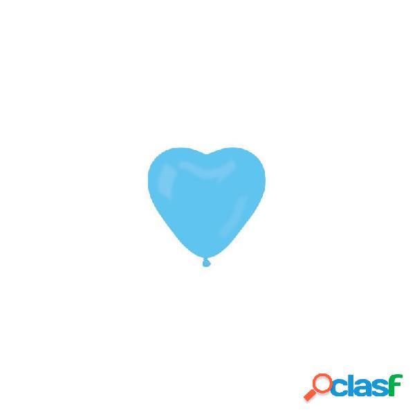100 palloncini cuore azzurri per cerimonia