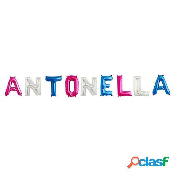 9 palloncini lettere alfabeto foil