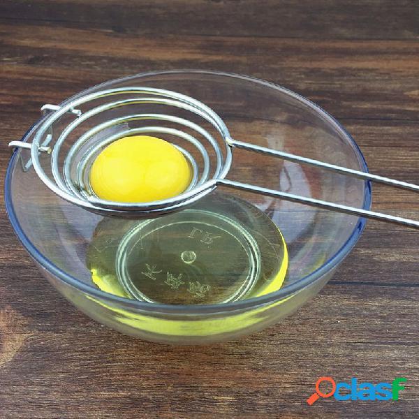Uova in acciaio inox yolk separatore bianco divisore uovo filtro uovo strumenti utensili da cucina torta bakeware