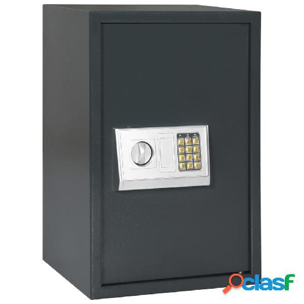 Vidaxl cassaforte digitale grigio scuro 40x35x60 cm