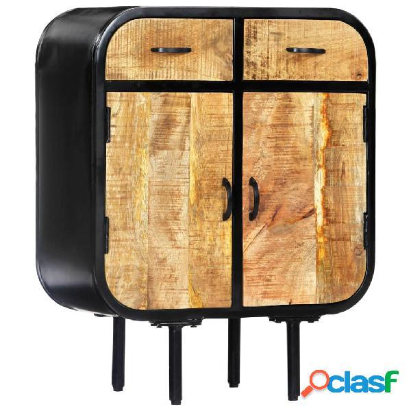 Vidaxl credenza 60x30x75 cm legno massello di mango e ferro