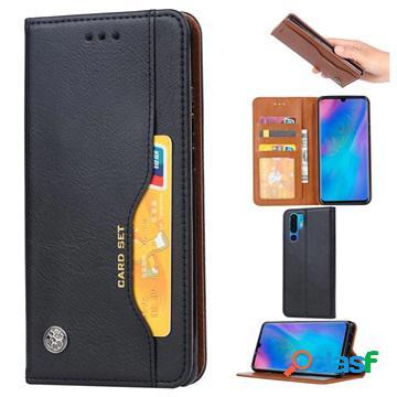 Card set huawei p30 pro wallet case - black