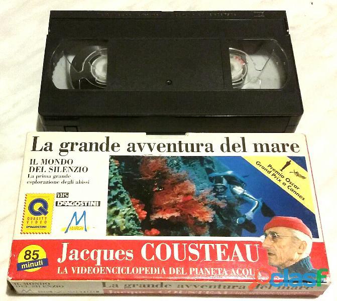 Vhs La grande avventura del mare: Il mondo del silenzio di Jacques Cousteau perfetto