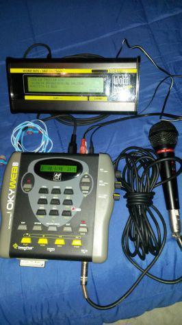 Lettore basi okyweb1 microfono + world box + mp-880