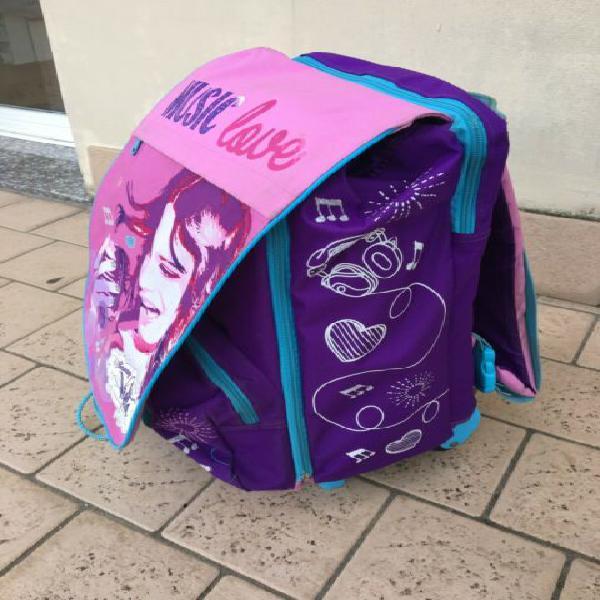 Zaino trolley scuola violetta