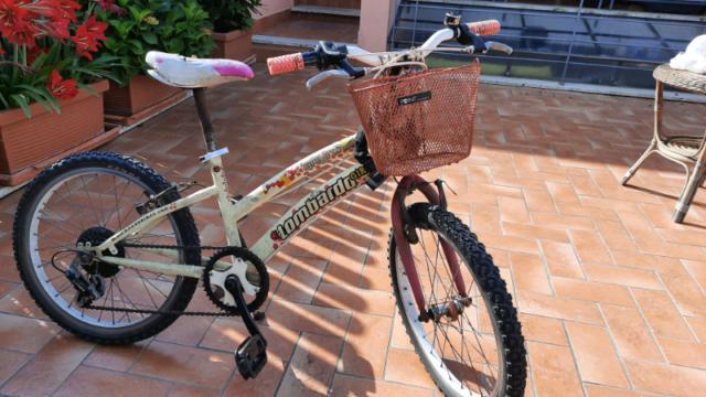Bicicletta da bambina tag.20 6-9 anni casco pattini