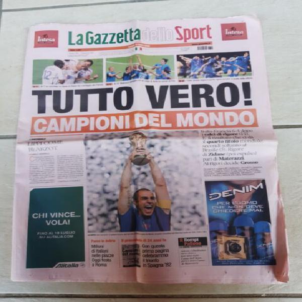 """Gazzetta dello sport â€å""""italia campione del"""
