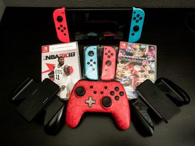 Nintendo switch neon con accessori