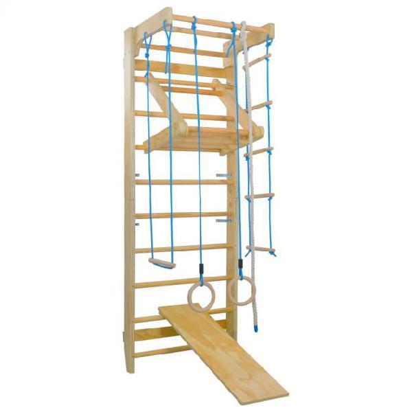 Vidaxl set gioco arrampicata per interni scale anelli