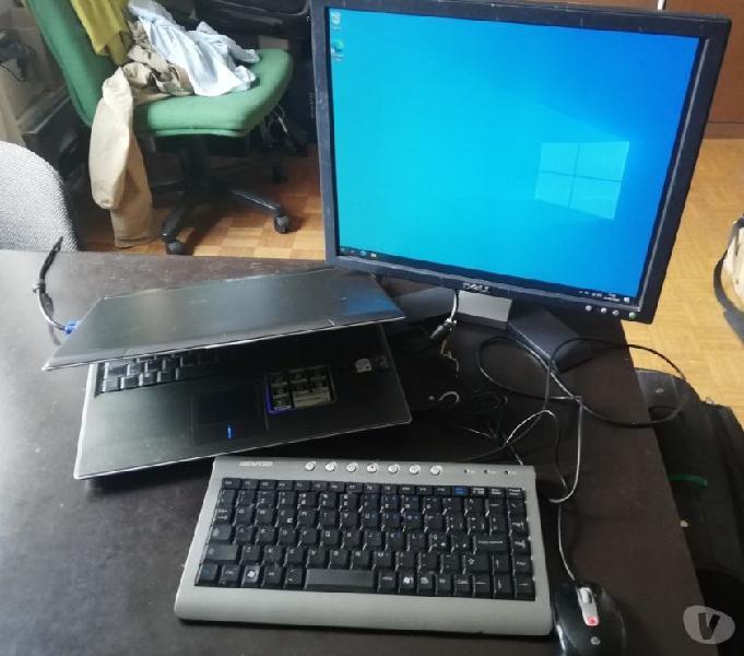 Computer con monitor mouse e tastiera uso di base